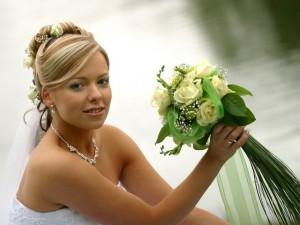 Невеста и ее букет