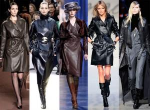 Кожаные пальто - одежда всех времен
