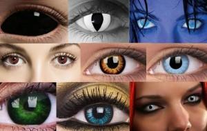 Применение цветных контактных линз