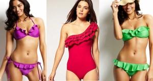 Самые модные пляжные костюмы с оборками