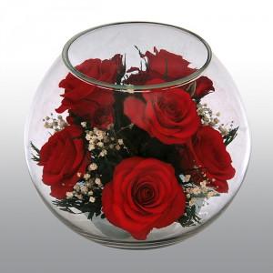 Живые цветы в стекле – новинка цветочной индустрии