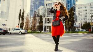 Красное платье: осень 2017 года
