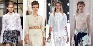 Кружевная блузка не только для вечера: акценты для повседневного гардероба