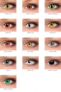 Безопасность использования цветных контактных линз