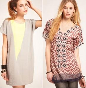 Платья-туники – один из трендов сегодняшней моды
