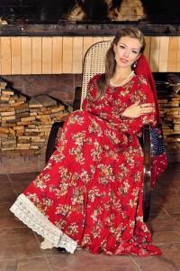 Платья из штапеля, русский стиль