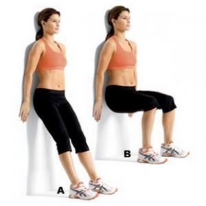 Упражнение стенка для ног.